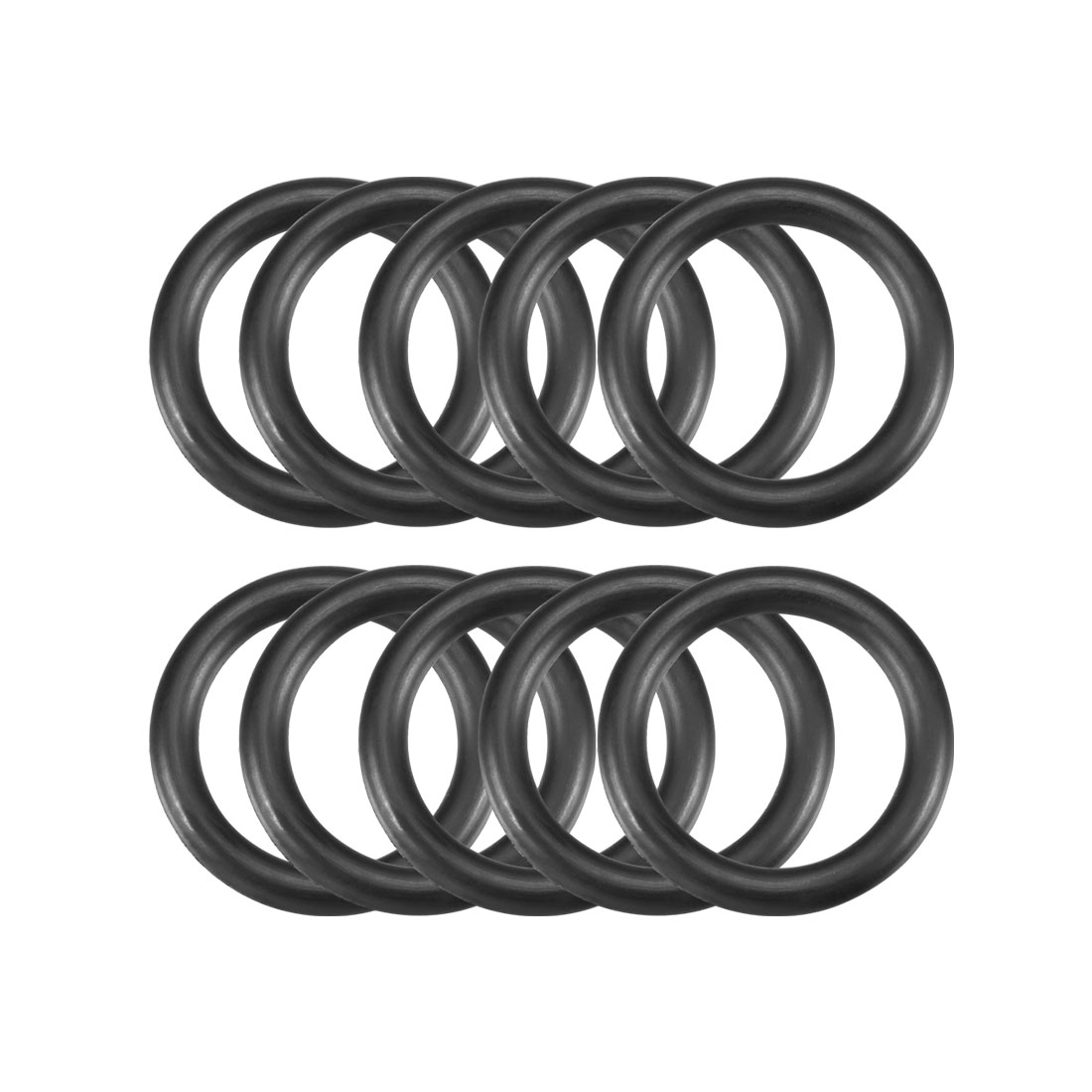 10 Pcs 25mm x 3.5mm Black Silicone O Rings Oil Seals Gaskets