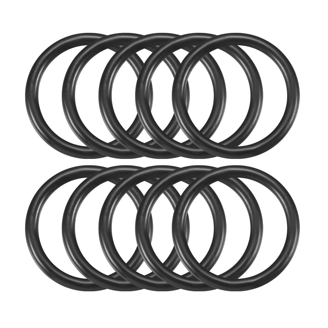 10 Pcs 24mm x 3.5mm Black Silicone O Rings Oil Seals Gaskets