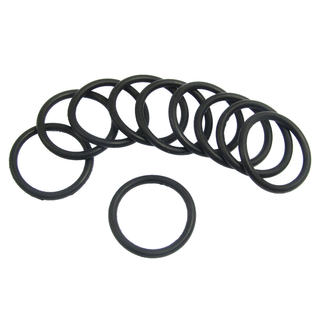 10 Pcs 21.2mm x 2.65mm Black Silicone O Rings Oil Seals Gaskets