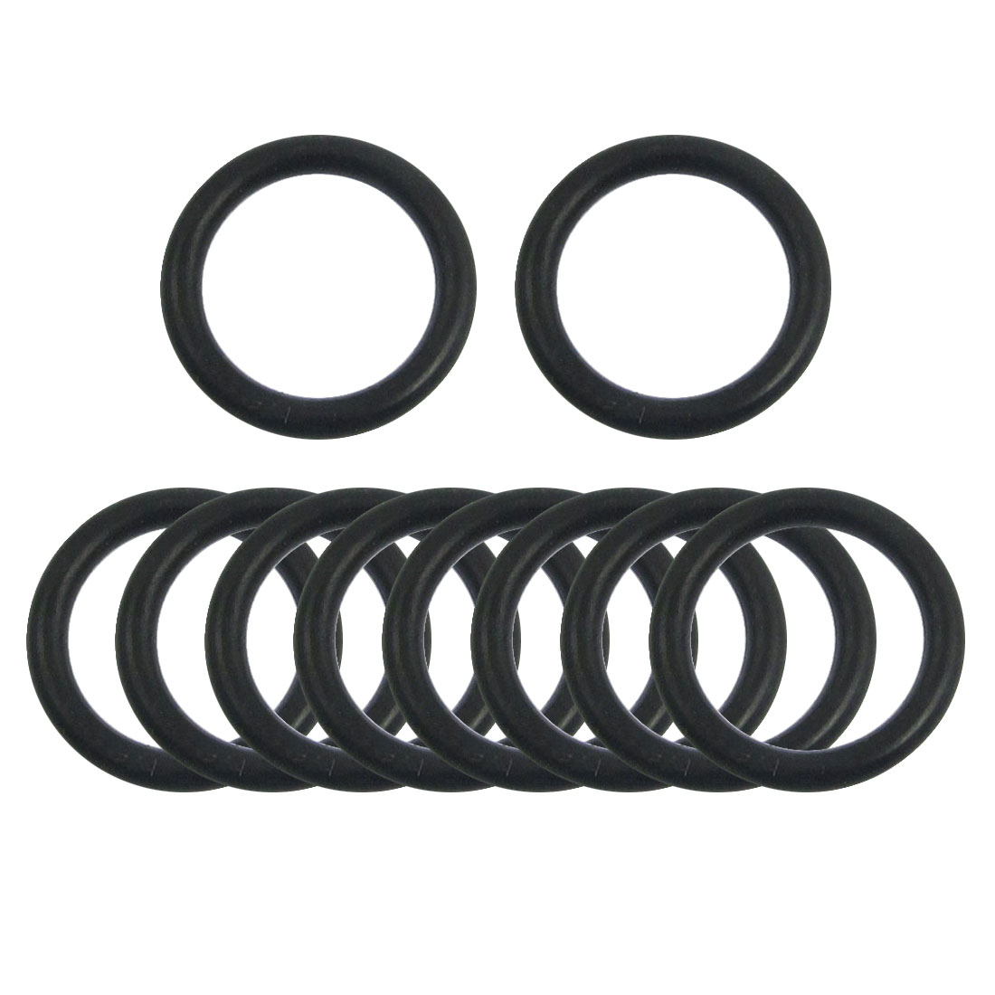 10 Pcs 17mm x 2.65mm Black Silicone O Rings Oil Seals Gaskets