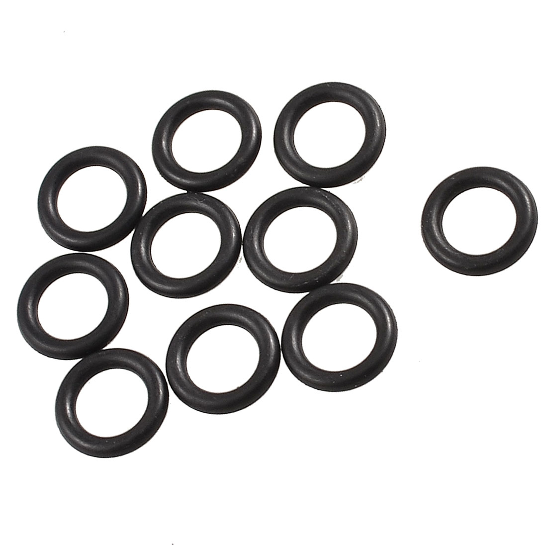 19mm x 12mm x 3.5mm Black Mechanical Rubber O Ring Oil Seal Gaskets 10 Pcs