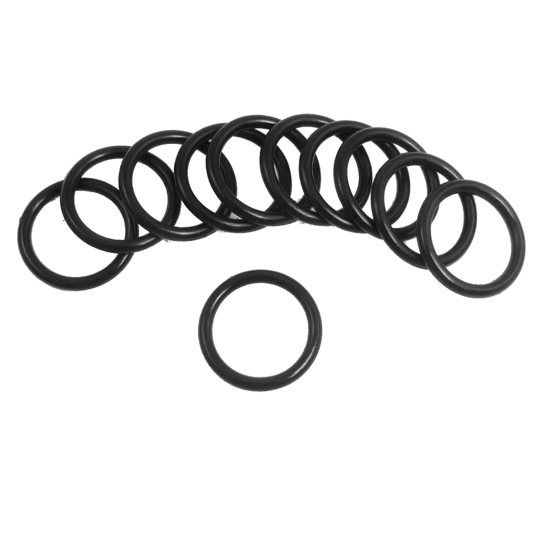 10 Pcs 18mm x 2.65mm Black Silicone O Rings Oil Seals Gaskets