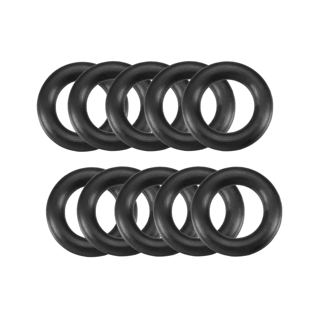 10 Pcs 17mm x 10mm x 3.5mm Mechanical Rubber O Ring Oil Seal Gaskets Black