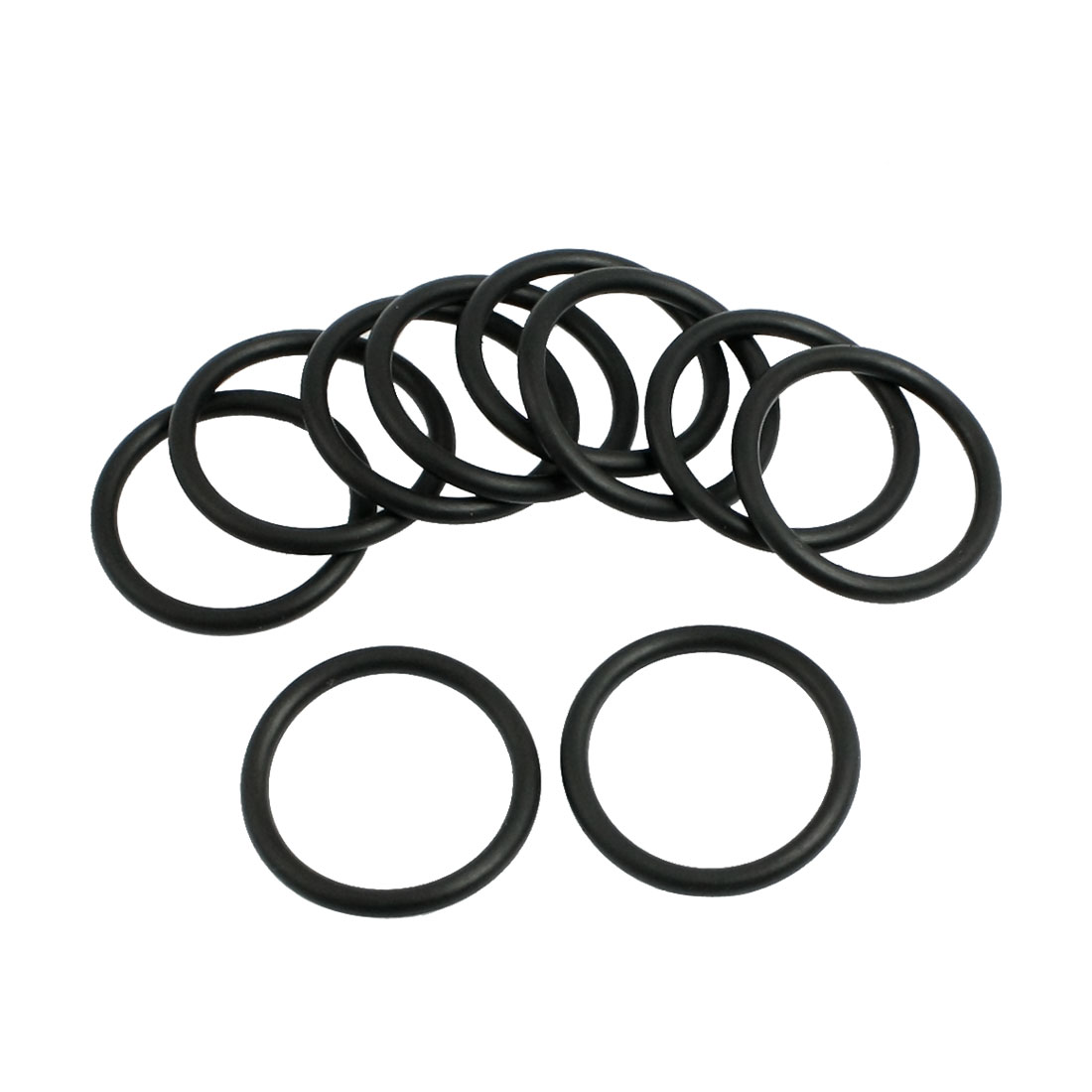 10 Pcs 22.4mm x 2.65mm Black Silicone O Rings Oil Seals Gaskets