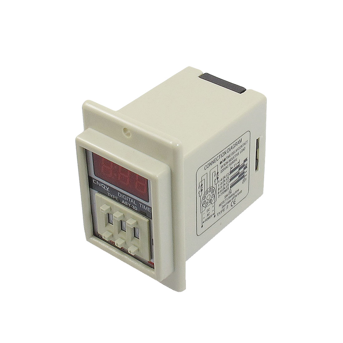 ASY-3D AC 220V 999 Minute Digital Timer Programmable Time Delay Relay White