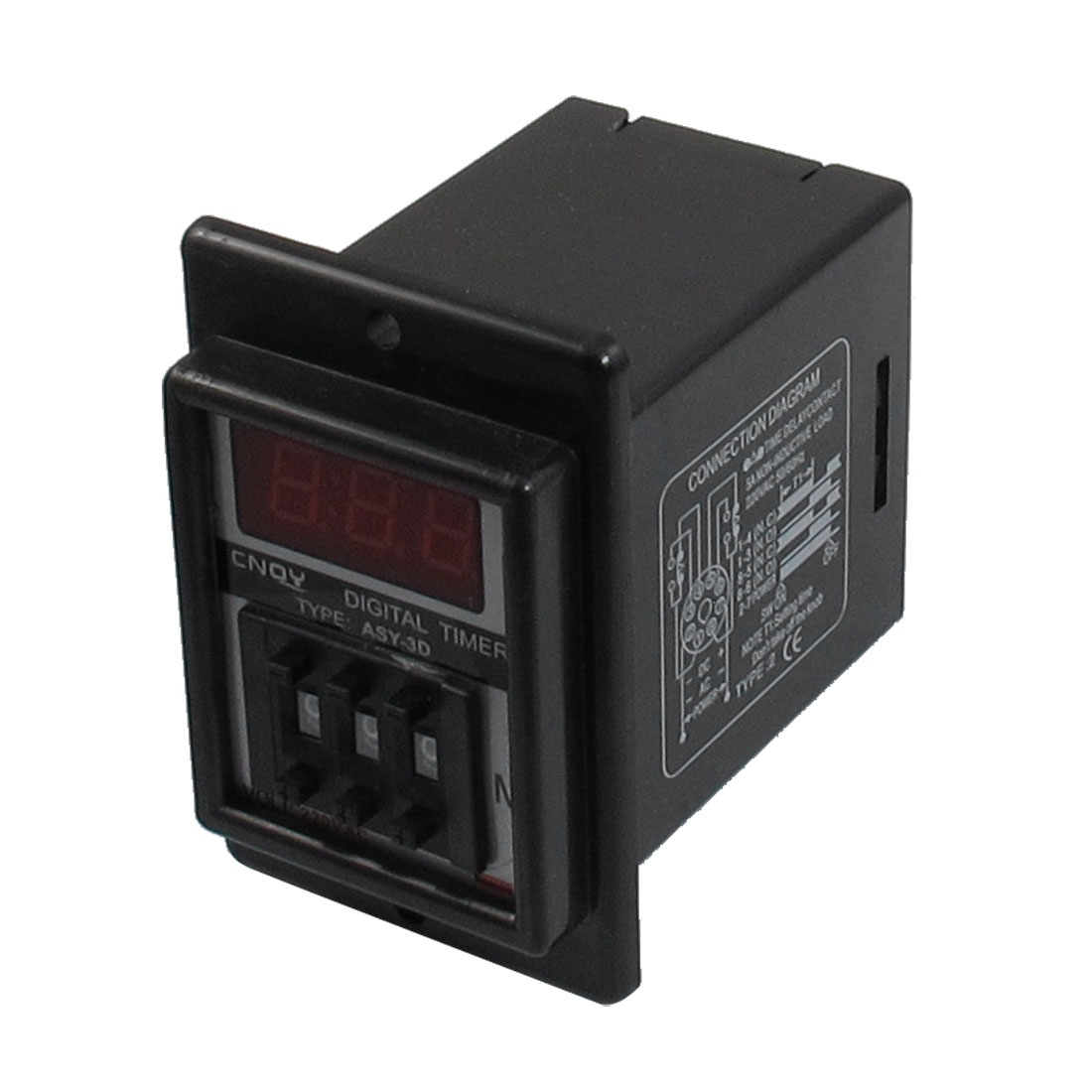 ASY-3D AC 220V 99.9 Minute Digital Timer Programmable Time Delay Relay Black