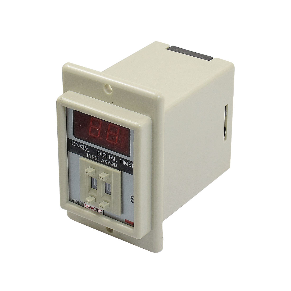 Panel Mount 0.1S-9.9S White Digital Timer Time Delay Relay AC/DC 36V ASY-2D