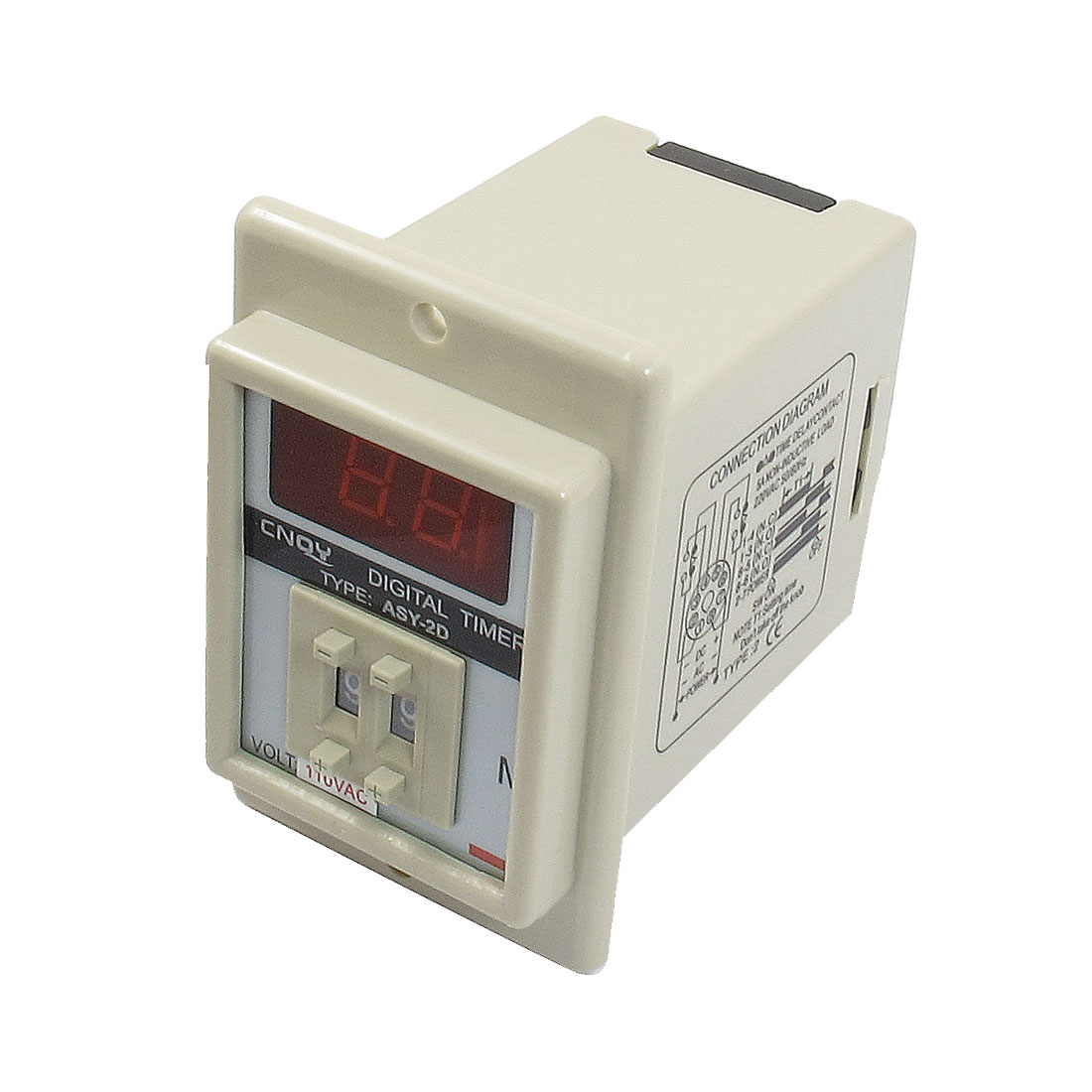 AC 110V 8 Pin 0.1-9.9 Minutes Digital Timer Time Delay Relay Beige ASY-2D