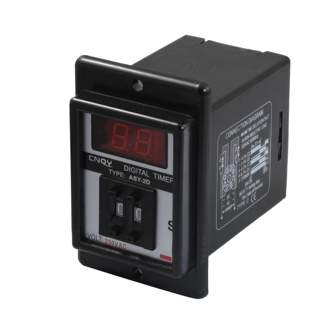 AC 220V 0.1-9.9 Second Digital Timer Time Delay Relay 8 Pin ASY-2D