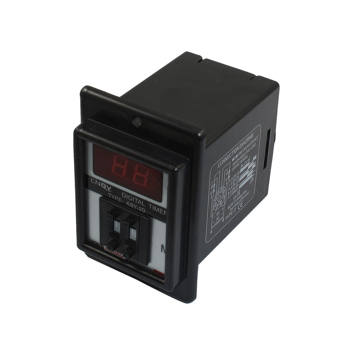AC 110V 0.1-9.9 Minutes Digital Timer Time Delay Relay 8 Pin ASY-2D