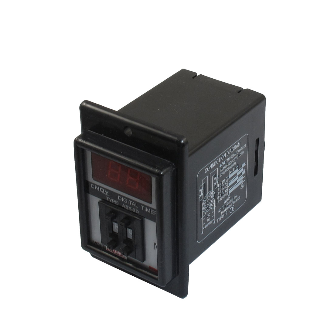 AC/DC 24V 1-99 Minutes Digital Timer Time Delay Relay 8 Pin ASY-2D