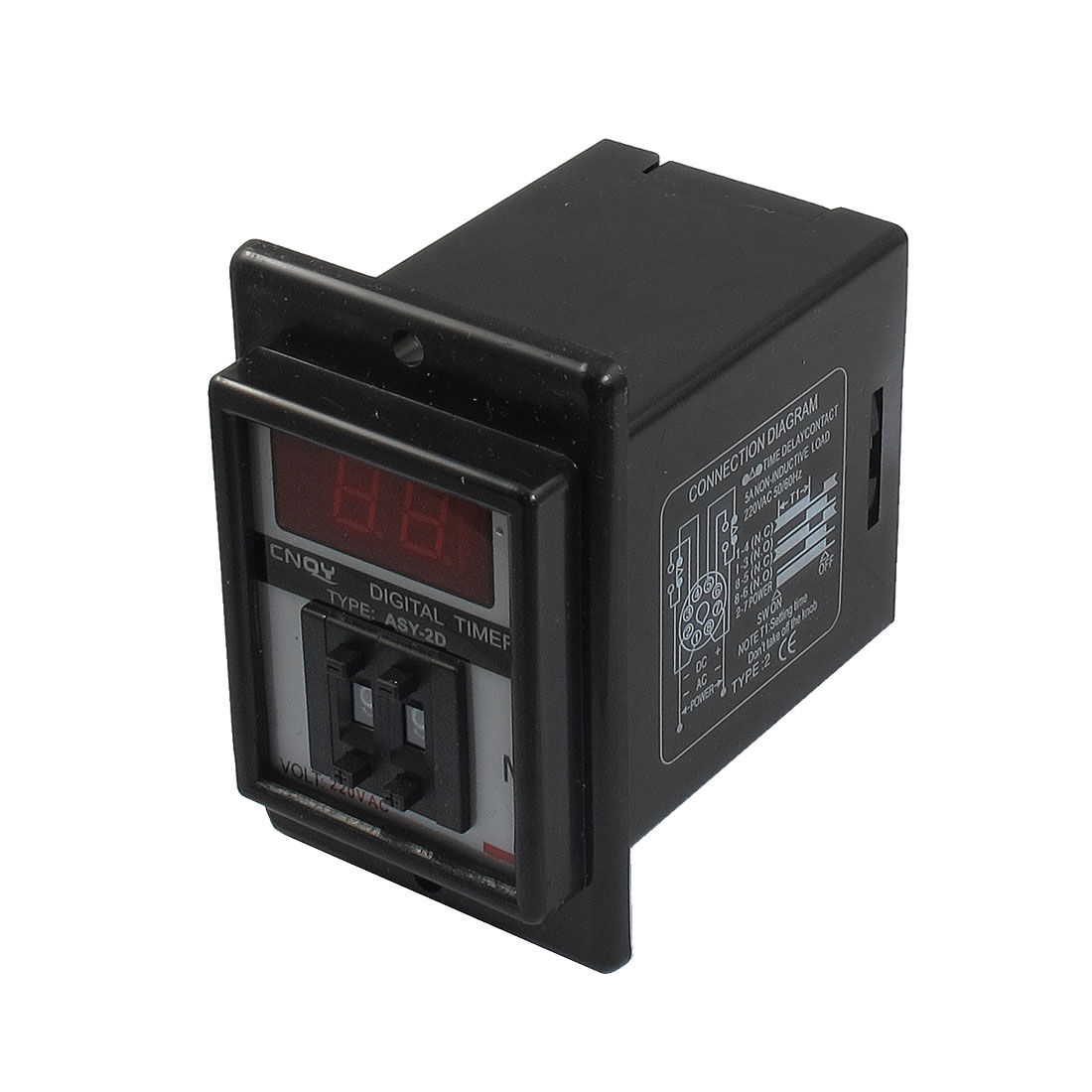 AC 220V 1-99 Minute Digital Timer Time Delay Relay 8 Pin ASY-2D