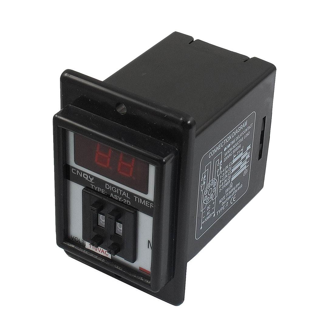 AC 110V 1-99 Minute Digital Timer Time Delay Relay 8 Pin ASY-2D