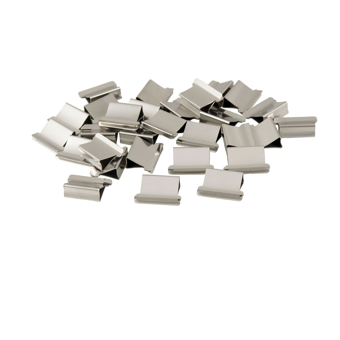 30 Pcs T-225 Office Stationery Metal Clip Clamp Dispenser Refill
