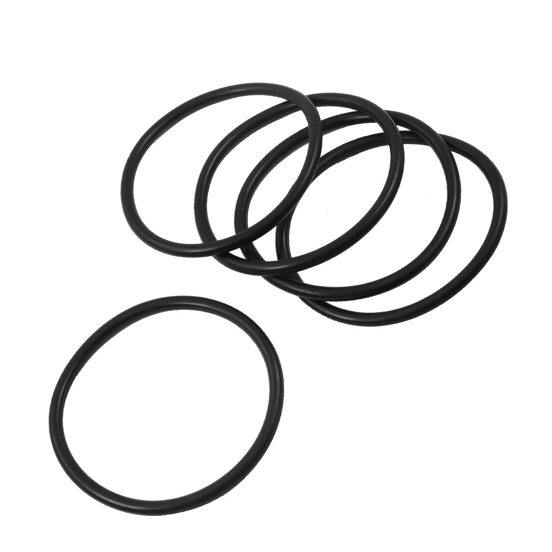 5 Pcs 65mm x 4mm Industrial Flexible Rubber O Rings Black