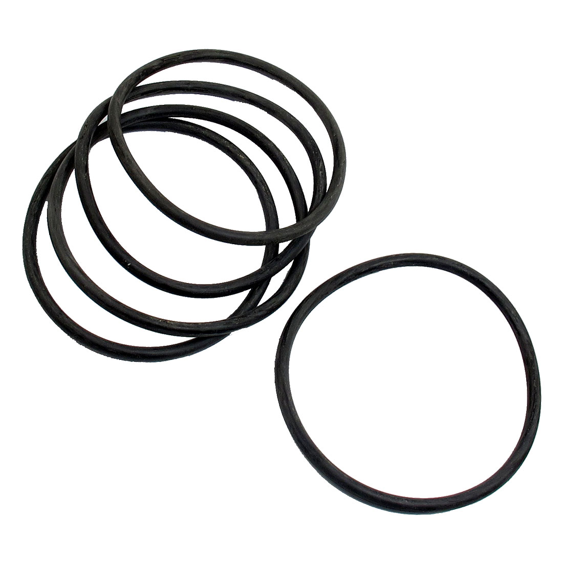 5 Pcs 80mm Outside Dia 4mm Thick Filter Rubber O Ring Seal Black