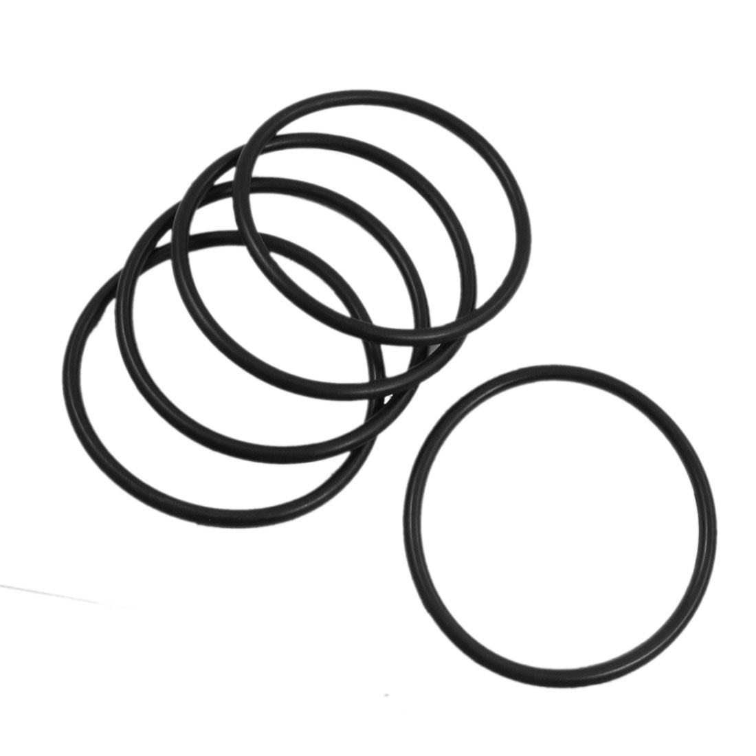 5 Pcs 70mm x 4mm Rubber Sealing Oil Filter O Rings Gaskets Black