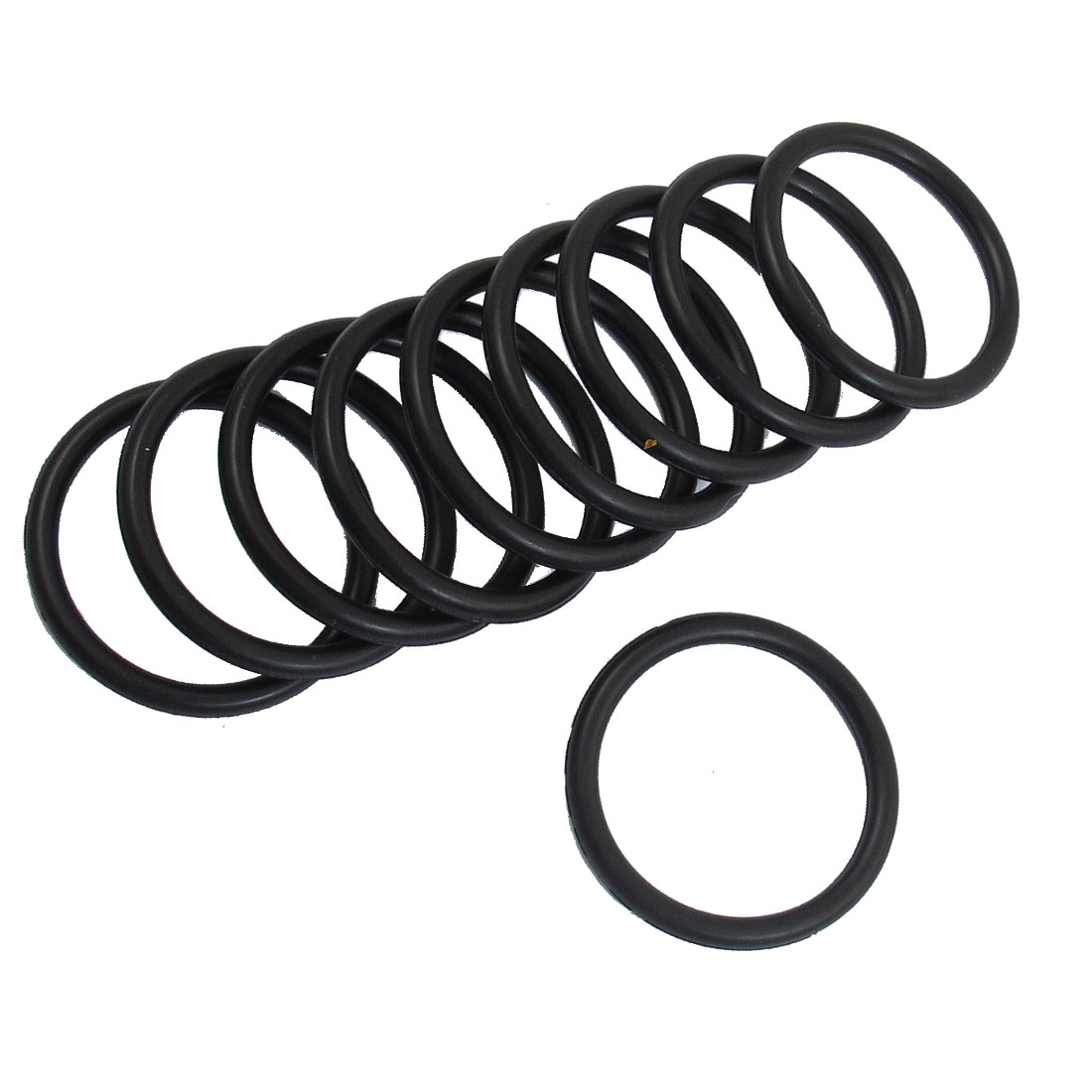 10 x 42mm Outside Dia 4mm Thick Black Rubber O Rings Gaskets