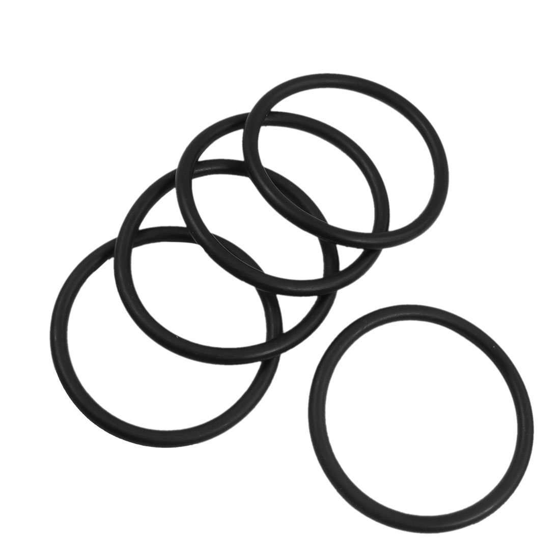 5 Pcs 65m x 5mm Rubber Sealing Oil Filter O Rings Gaskets Black