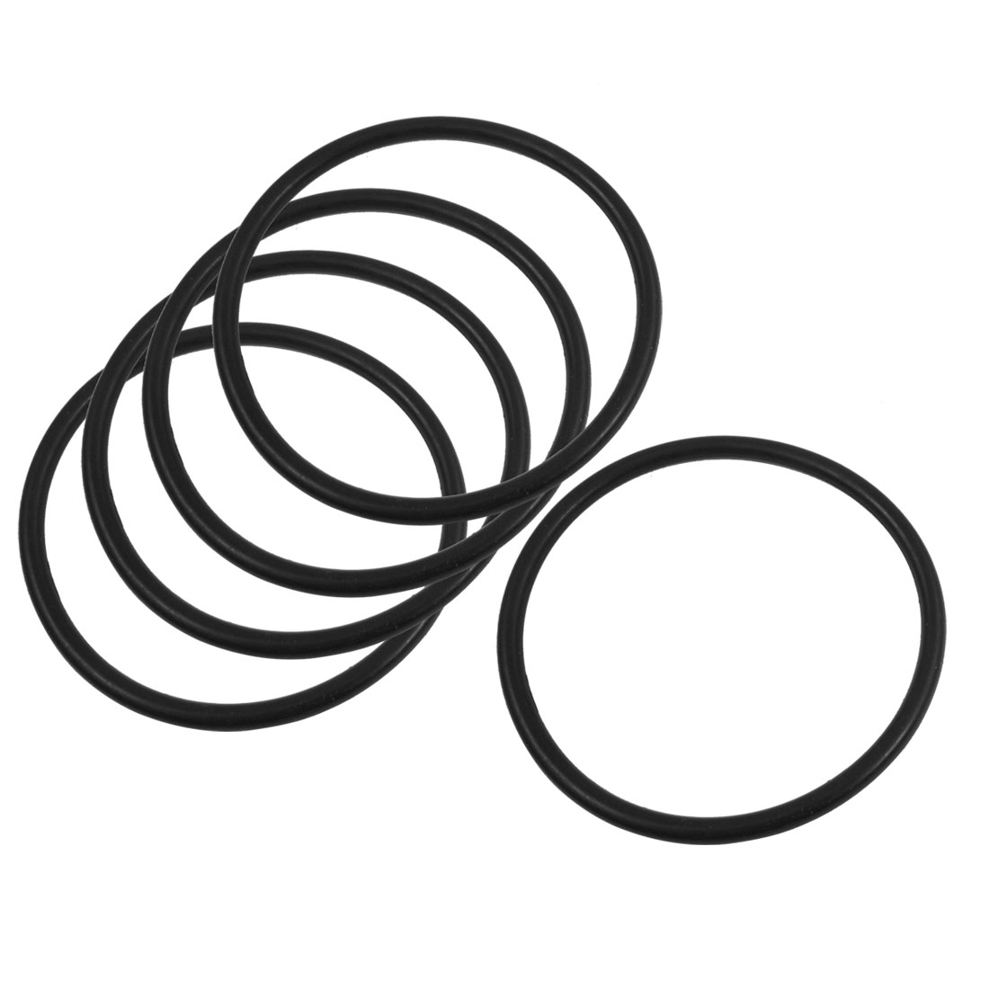 5 Pcs 90mm x 5mm Rubber Sealing Washers Oil Filter O Rings Black