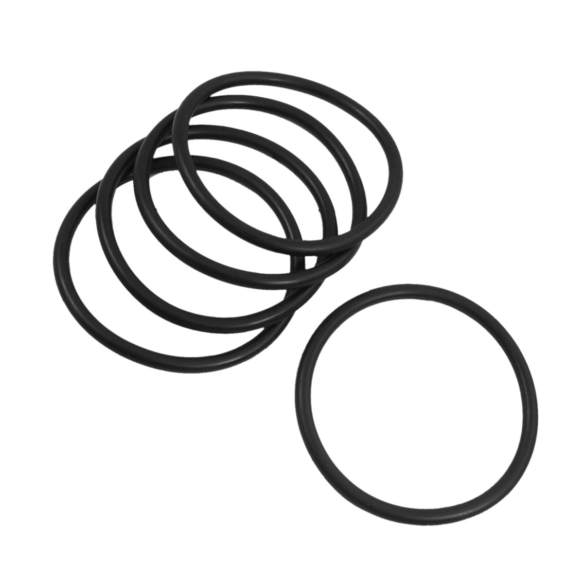 5 Pcs 75mm x 5mm Black Rubber Sealing Washers Oil Filter O Rings