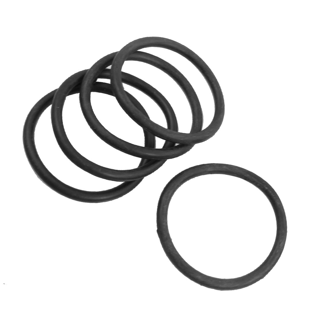 5 Pcs 60mm x 5mm Rubber Sealing Oil Filter O Rings Gaskets Black
