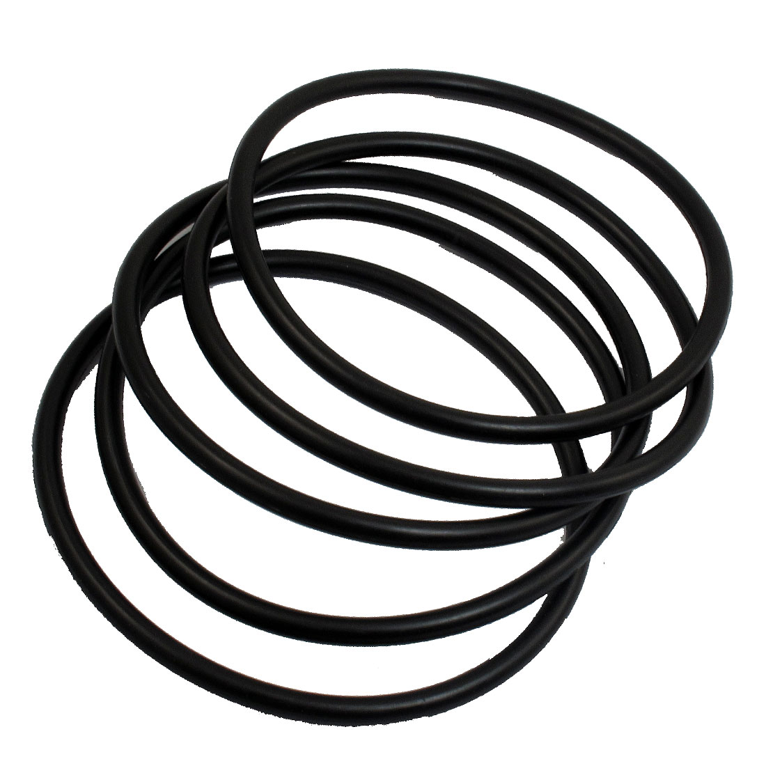 5 Pcs 100mm Outside Dia 5mm Thick Rubber Sealing Oil Filter O Rings Gaskets