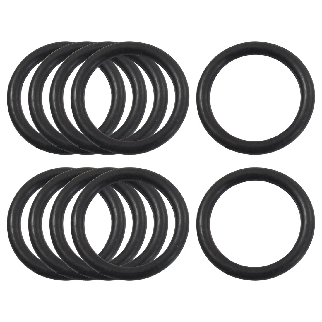 10 Pcs 20m Outside Dia 2.4mm Thick Sealing Oil Filter O Rings Gaskets