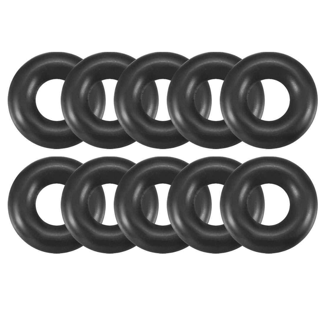 10 Pcs 8mm Outside Dia 2.4mm Thick Oil Filter O Rings Gaskets Black