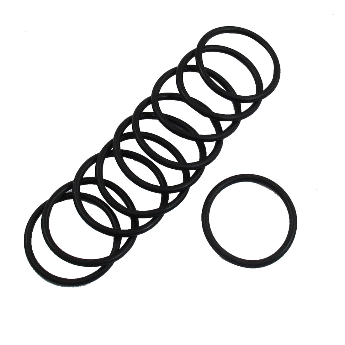 10 Pcs 31mm x 2.4mm Industrial Flexible Black Rubber O Ring