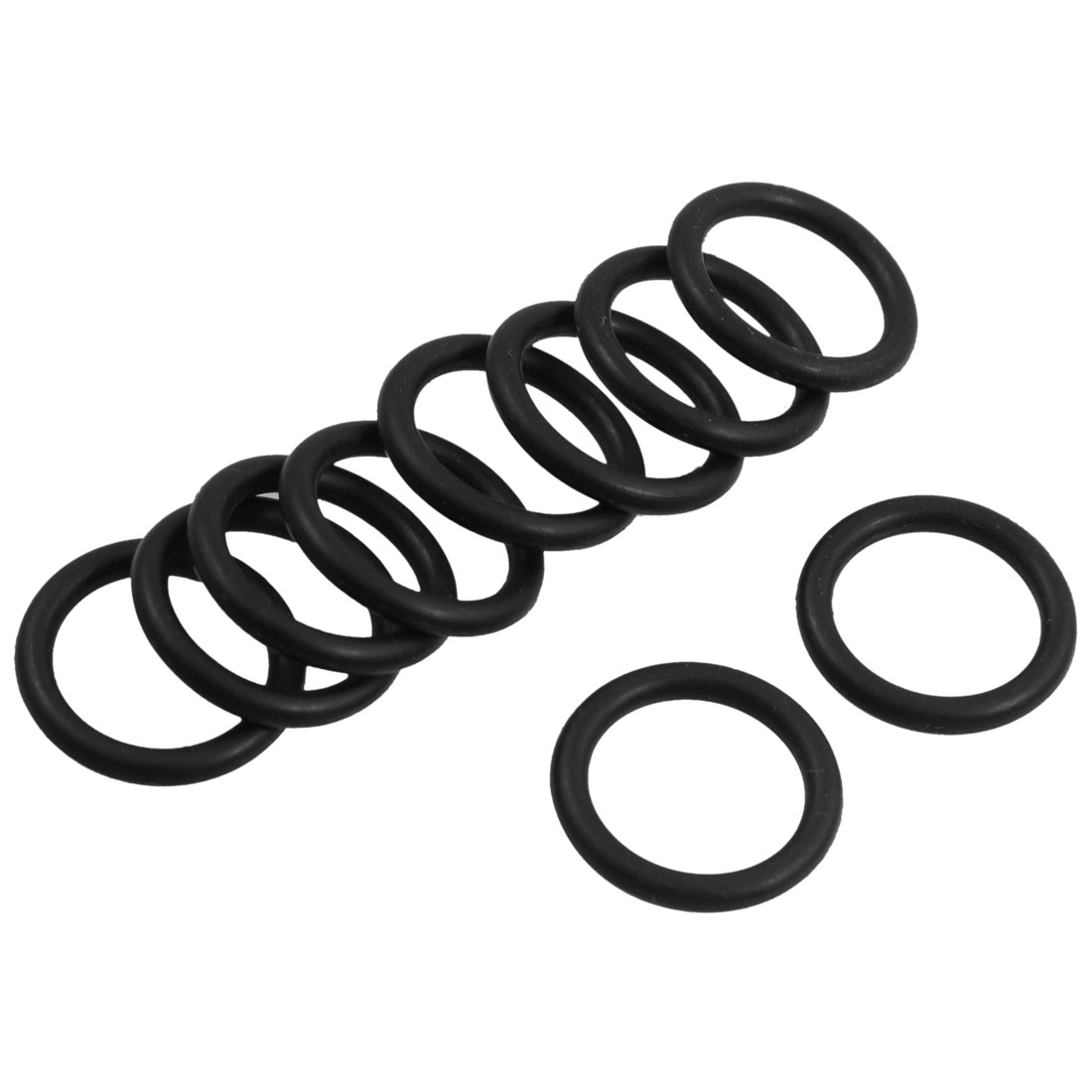 10 Pcs 18mm x 2.4mm Rubber Sealing Washers Oil Filter O Rings Black