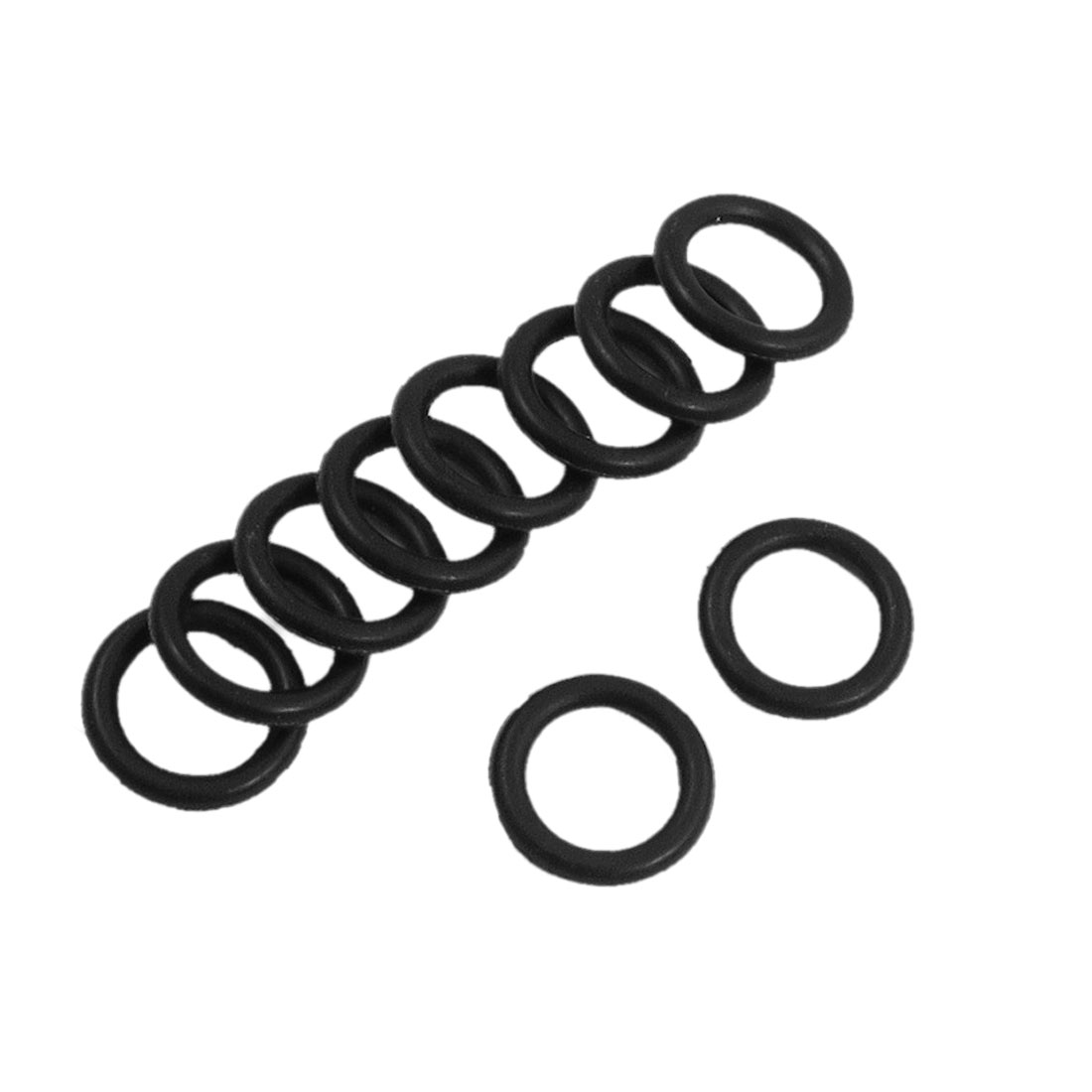 10 Pcs 15mm x 2.4mm Rubber Sealing Oil Filter O Rings Gaskets