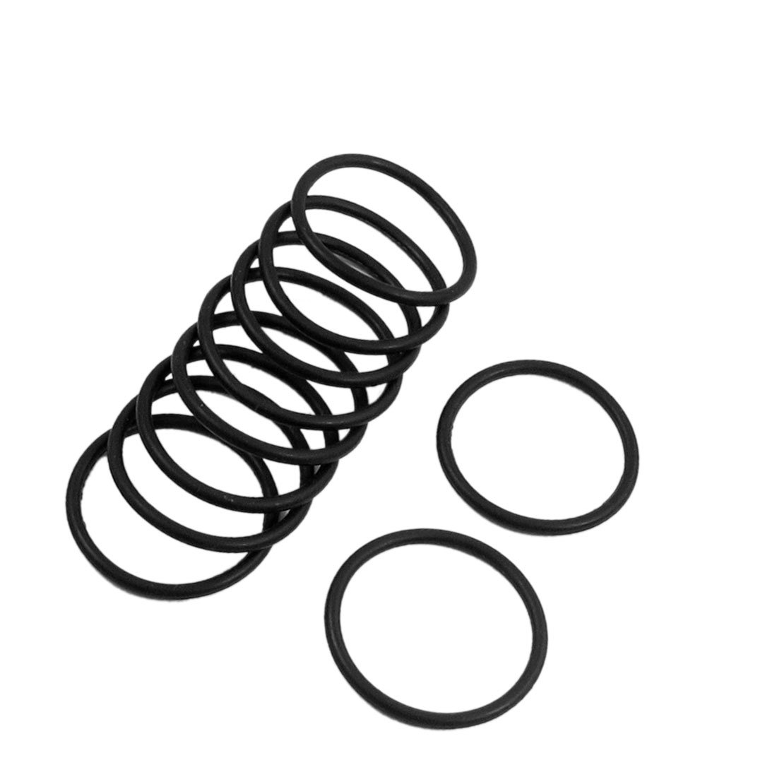 10 Pcs 33mm x 2.4mm Sealing Washers Oil Filter O Rings Black