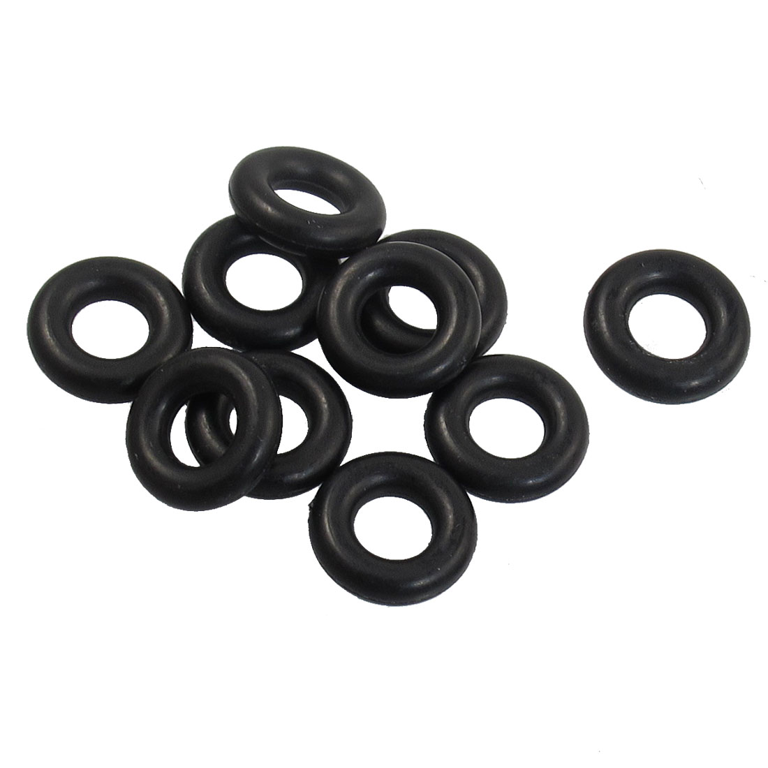 10 Pcs 5mm x 9mm x 2.4mm Rubber Sealing Oil Filter O Rings Gaskets