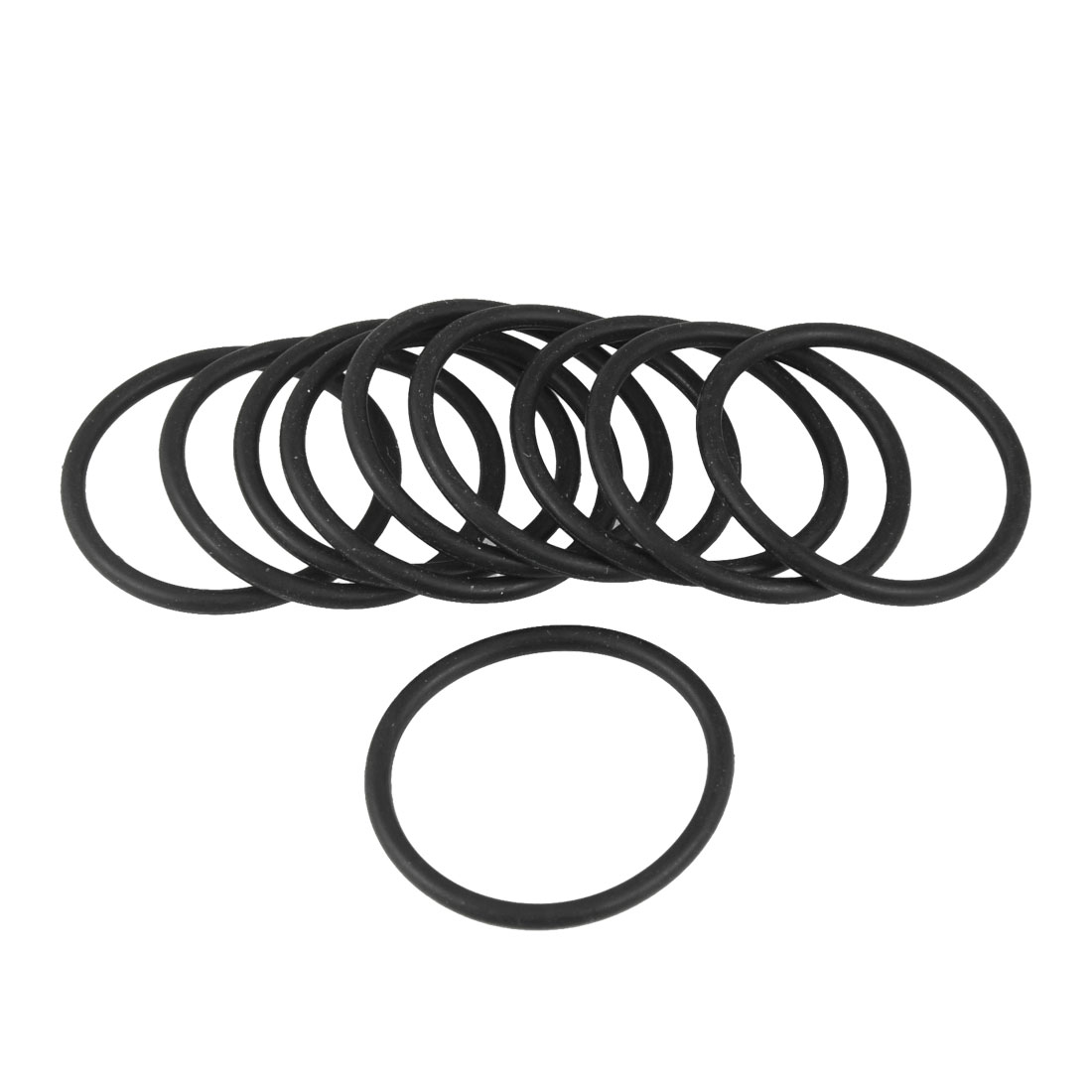 10 Pcs Black 34mm OD 2.4mm Thickness Nitrile Rubber O-ring Oil Seal Gaskets