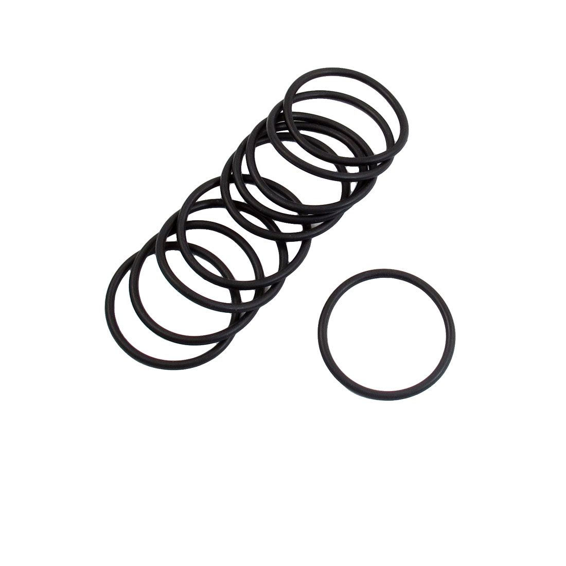 10 Pcs 35mm x 2.4mm Industrial Flexible Rubber O Ring Seal Washer