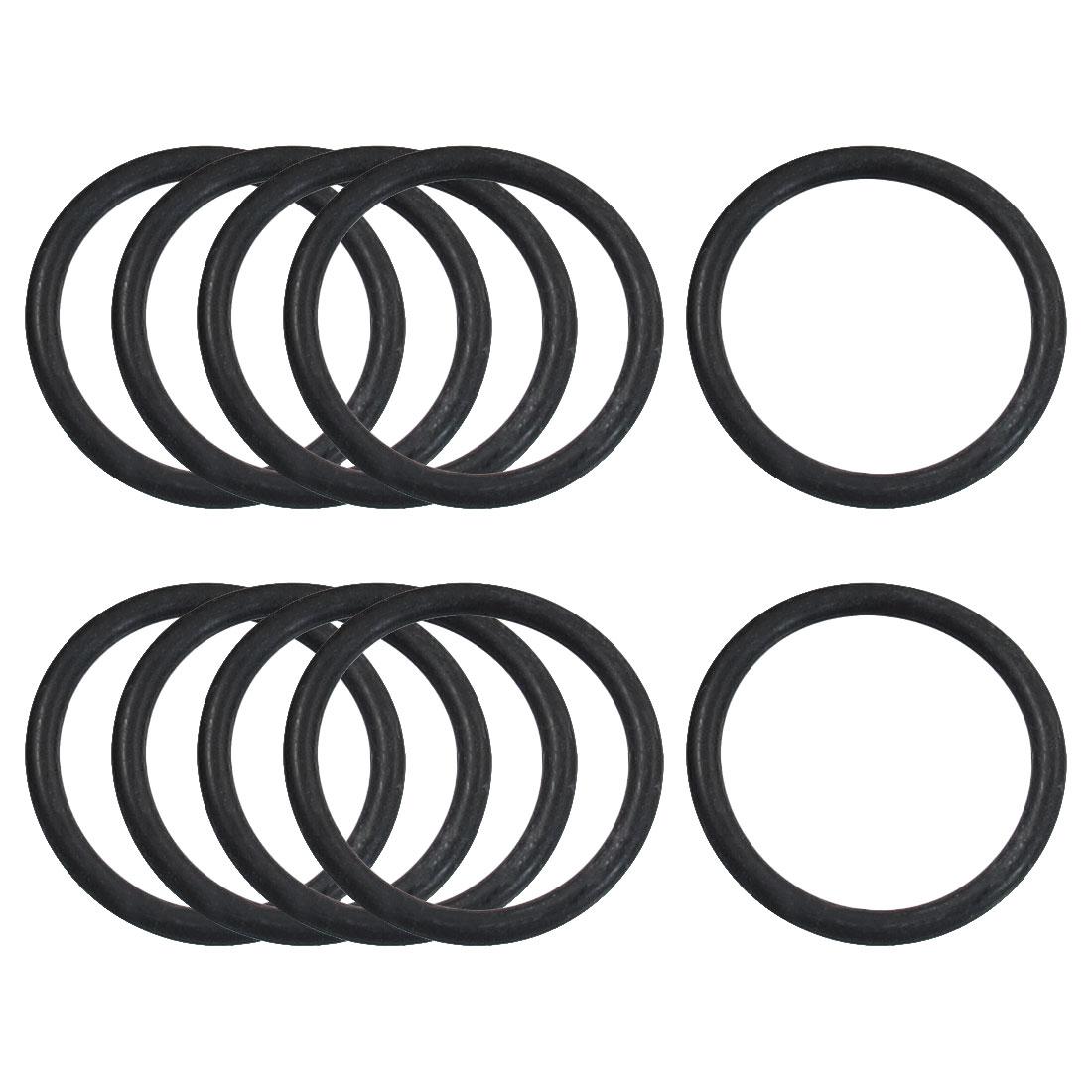 10 Pcs 27mm x 2.4mm Sealing Oil Filter O Rings Gaskets Black