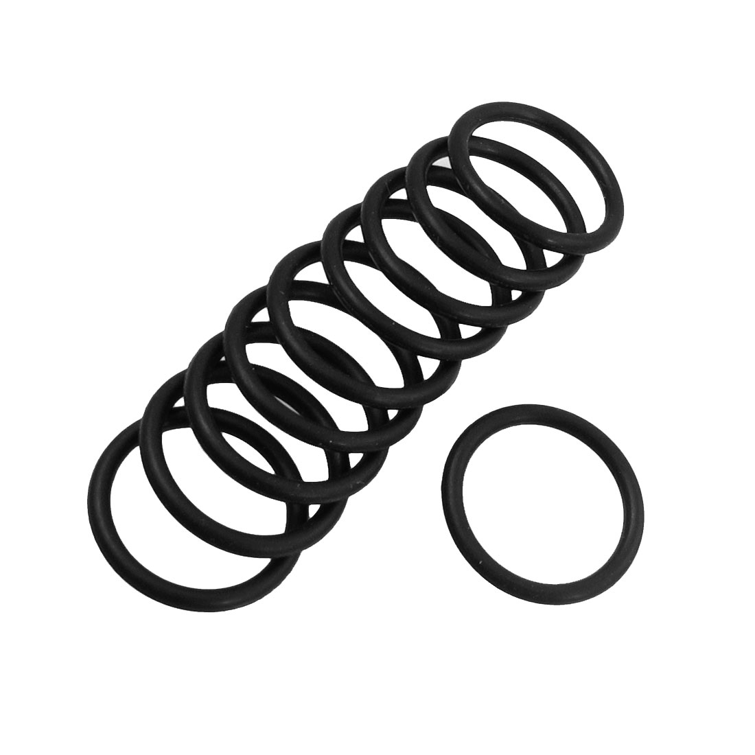 10 Pcs 19mm x 2mm Rubber Sealing Oil Filter O Rings Gaskets Black