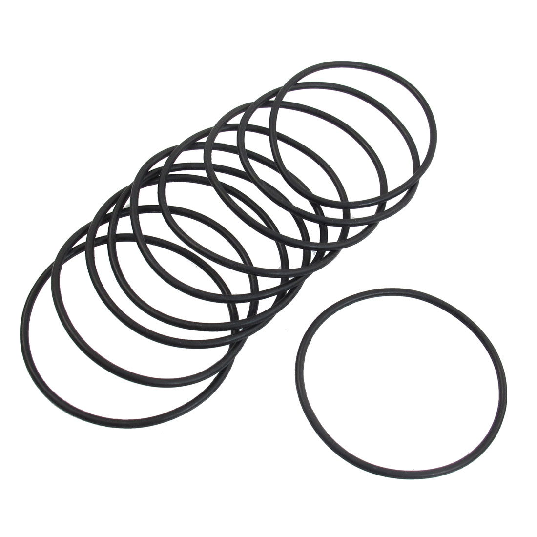10 Pcs 50mm x 2mm Rubber Sealing Oil Filter O Rings Gaskets