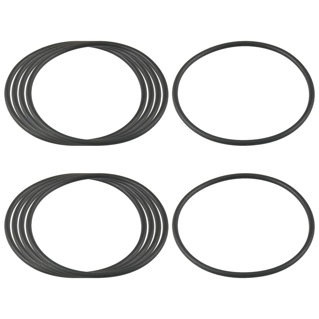 10 Pcs Black 48mm OD 2mm Thickness Nitrile Rubber O-ring Oil Seal Gaskets