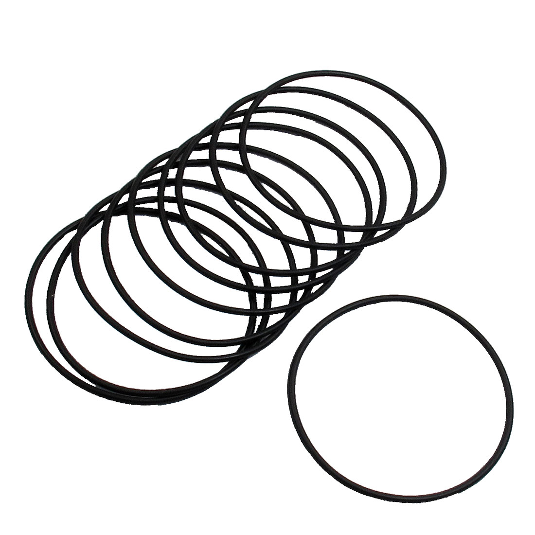 10 Pcs 60mm Outside Dia 2mm Thick Filter Rubber O Ring Seal Black