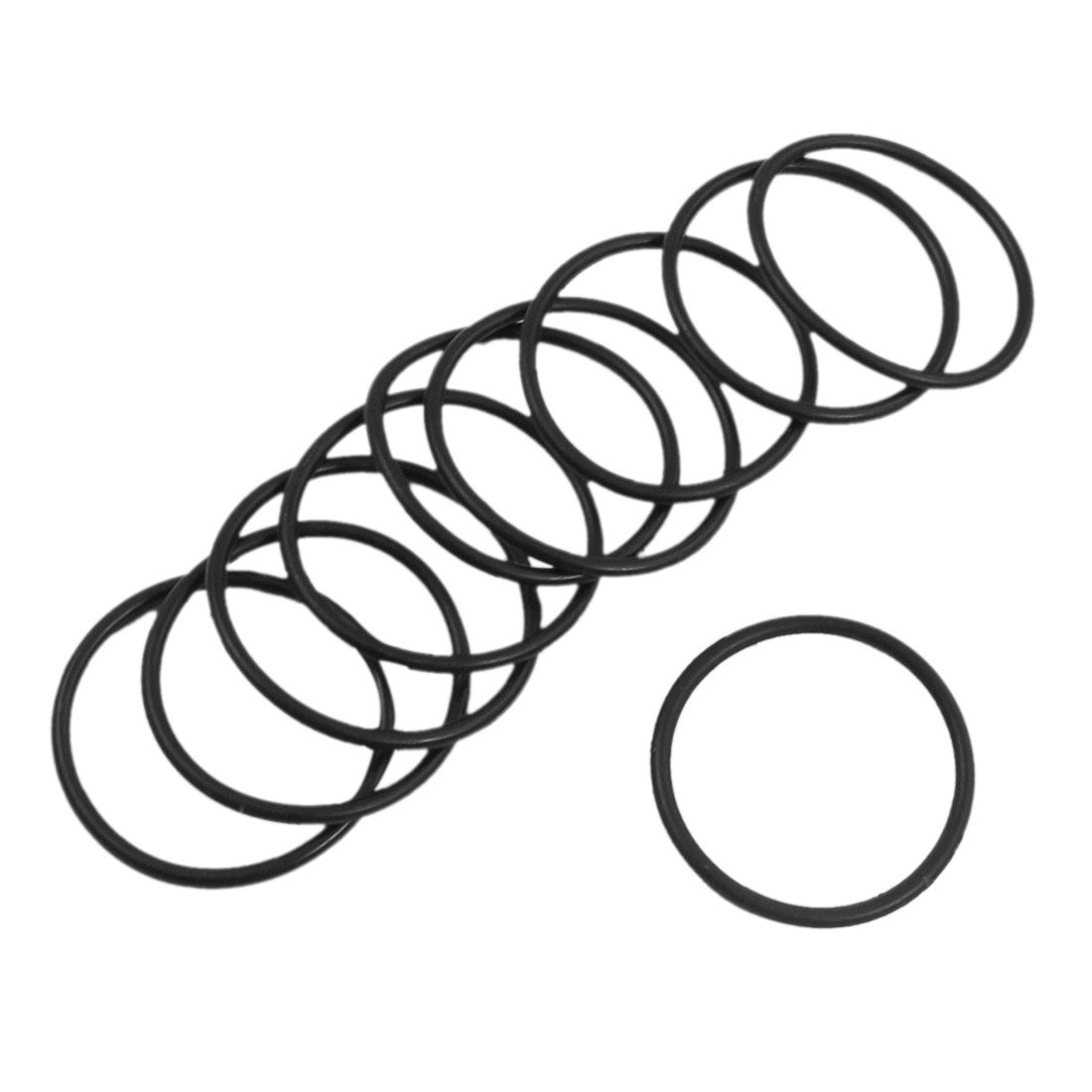 10 Pcs 32mm x 2mm Industrial Flexible Rubber O Ring Seal Washer