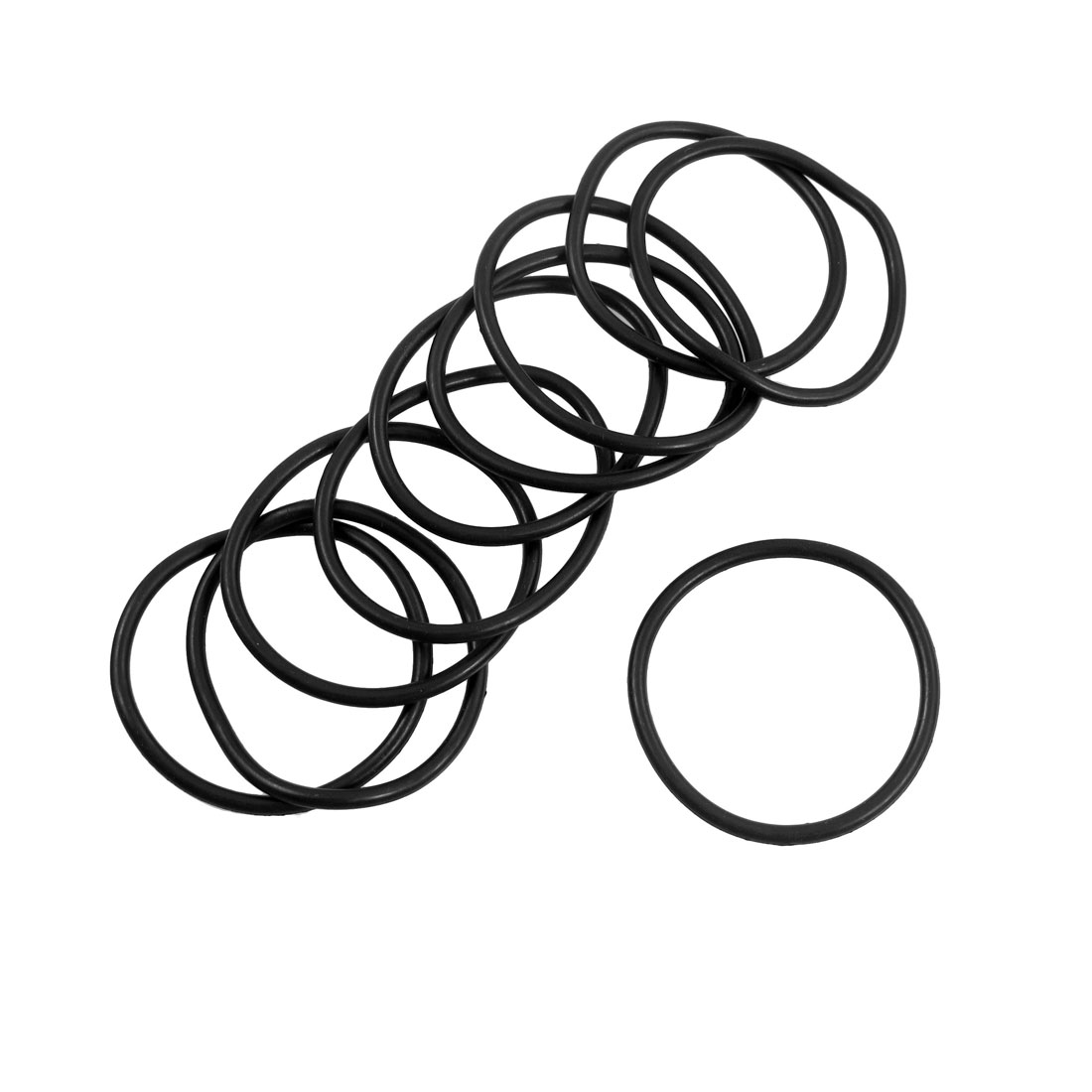 10 Pcs 31mm Outside Dia 2mm Thick Rubber O Rings Gaskets Black