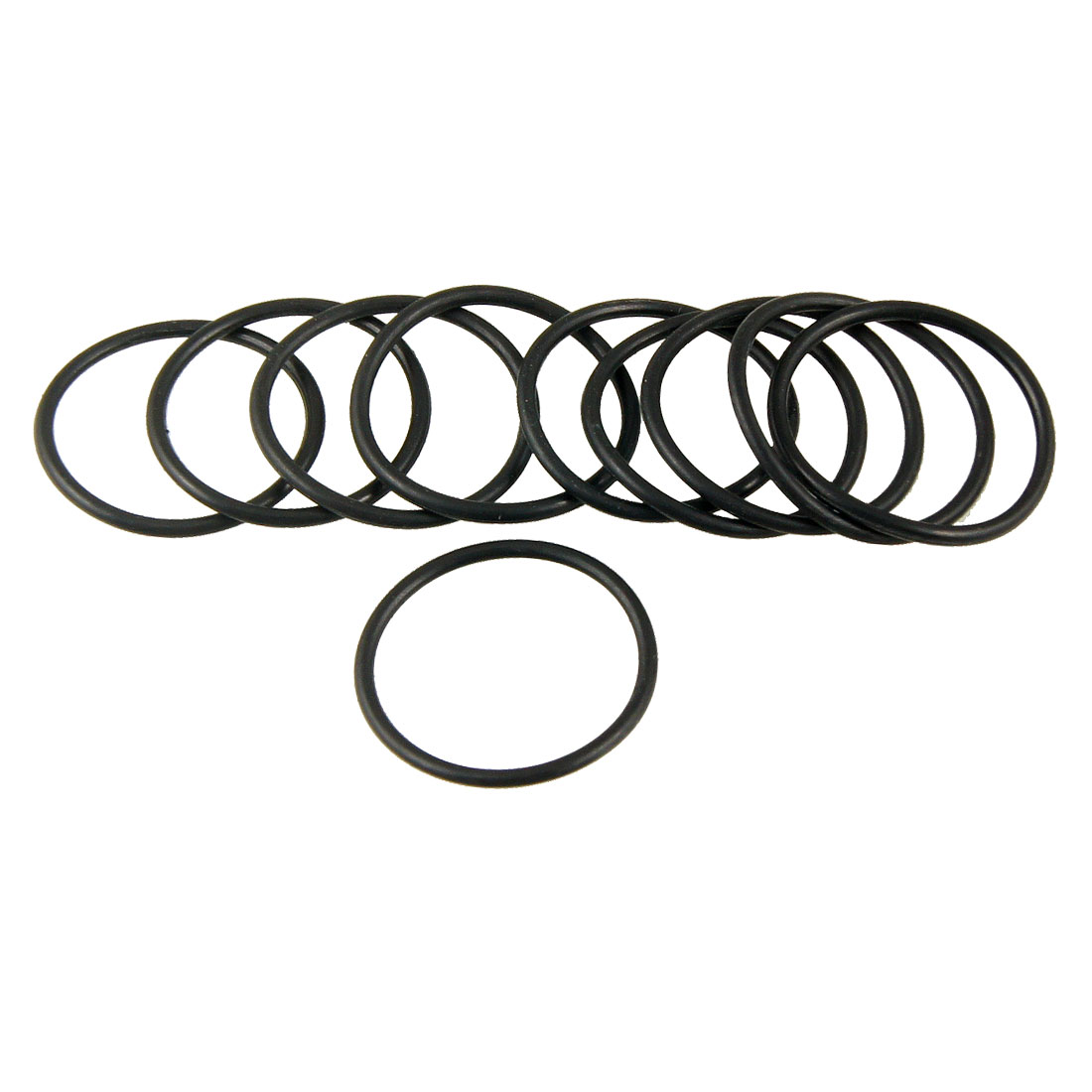 10 Pcs Black 28mm OD 2mm Thickness Nitrile Rubber O-ring Oil Seal Gaskets