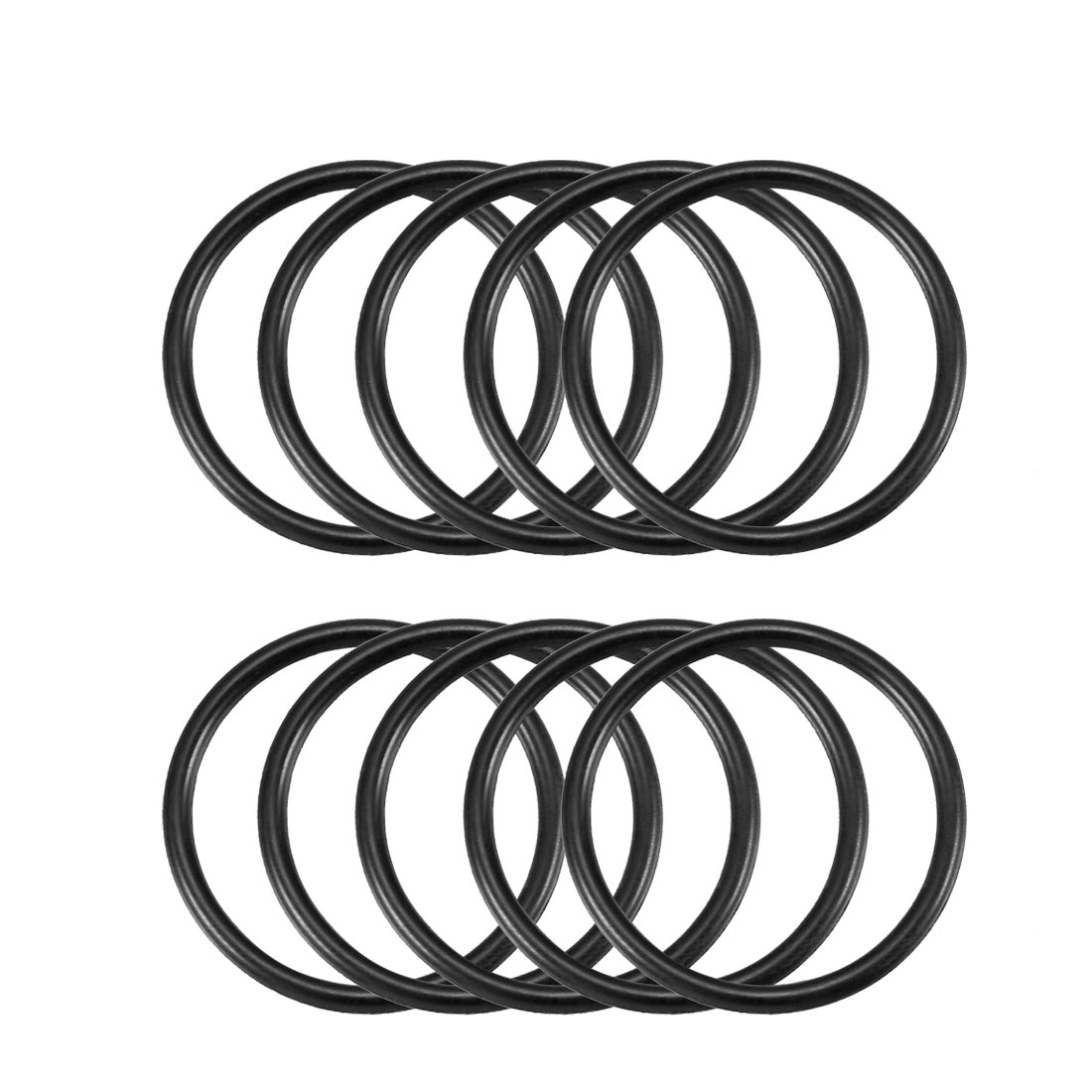 10 Pcs 26mm x 2mm Industrial Flexible Rubber O Ring Seal Washer