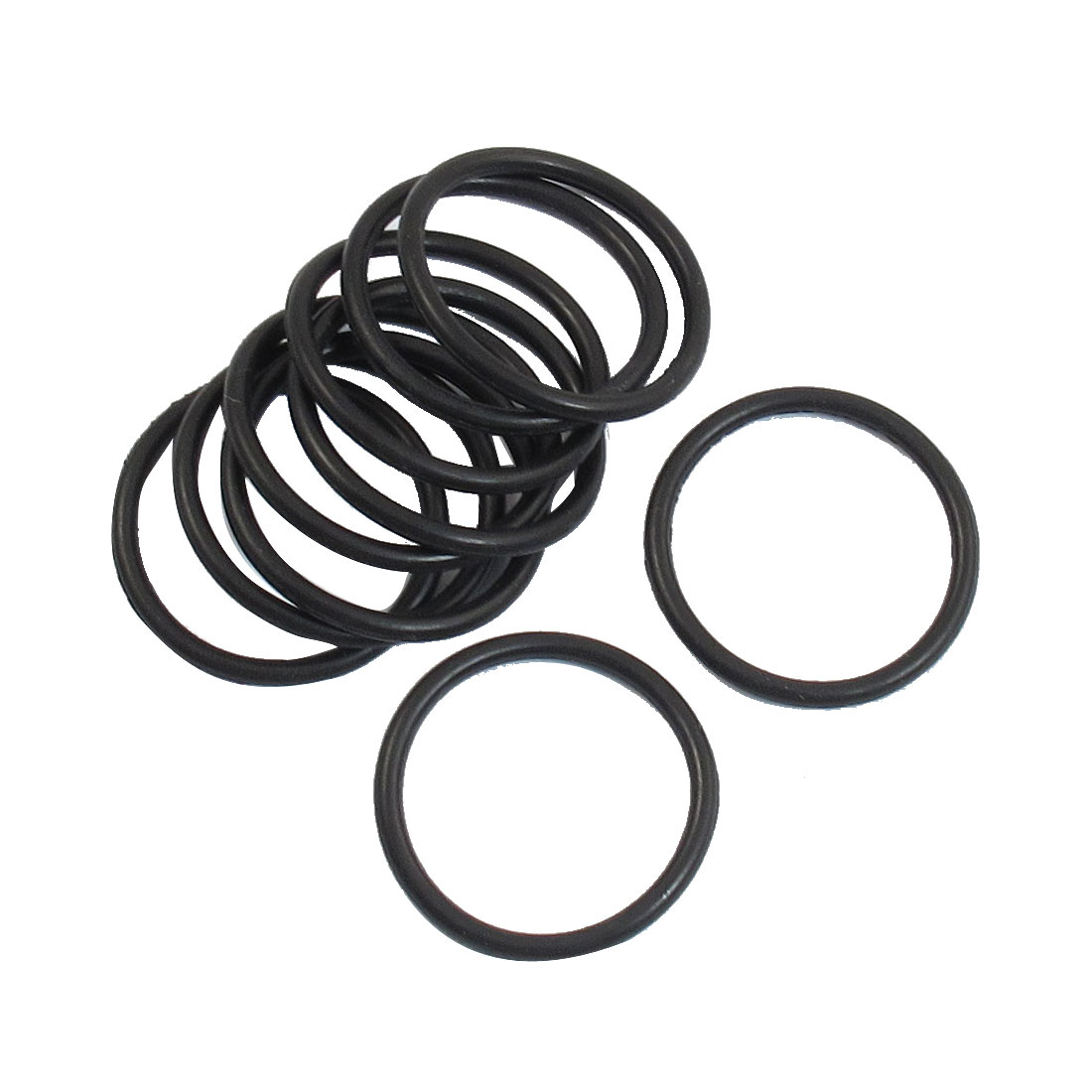 10 Pcs 24mm x 2mm Sealing Washers Oil Filter O Rings Black