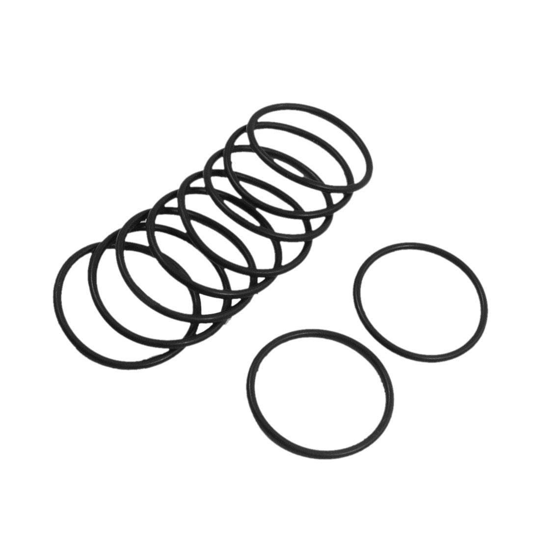 10 Pcs 30mm x 2mm Rubber Sealing Washers Oil Filter O Rings Black