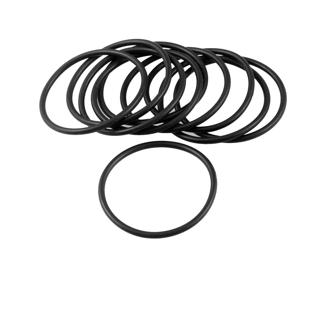 10 Pcs Black 35mm OD 2mm Thickness Nitrile Rubber O-ring Oil Seal Gaskets