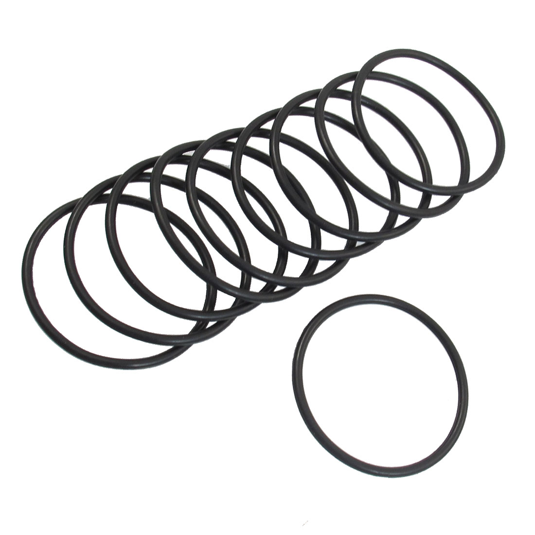 10 Pcs 33mm x 2mm Industrial Flexible Rubber O Ring Seal Washer