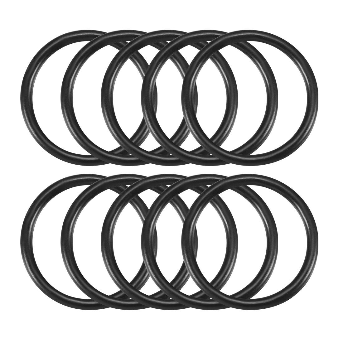 10 Pcs 20mm x 2mm Rubber Sealing Washers Oil Filter O Rings Black